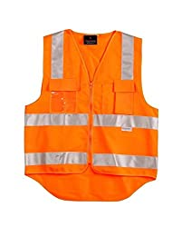 Superb Uniforms & Workwear High Visibility Orange Vest Jacket X Large