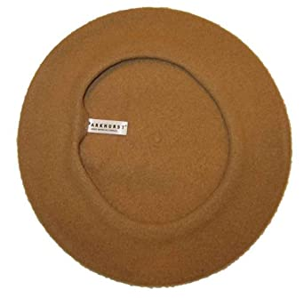 Classic Wool Beret By Parkhurst, Camel