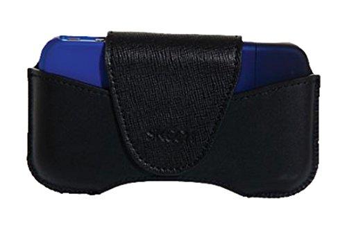 Skech Lederholster für Apple iPhone 4 / iPhone 4S mit Gürtelclip schwarz
