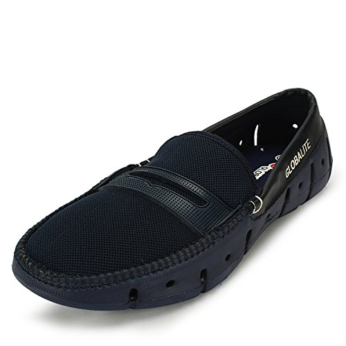 Globalite-Mens-Loafers-Groove-Saddle-Navy-GEC0068