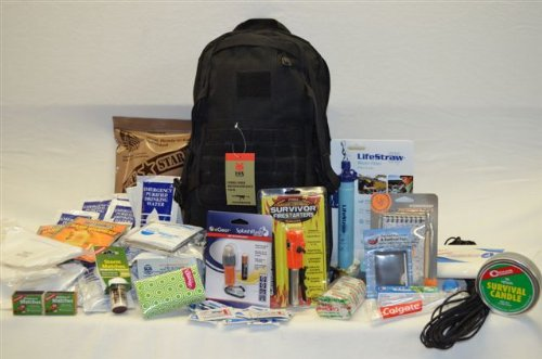 Ready 2 Bug Out 72 Hour Survival Bag With Fox Tactical Cobra Gold Reconnaissance Pack, Star Mre, Sos Food Lab Emergency Food And Water, Lifestraw Personal Water Filter, First Aid Kit, Gladding #550 Paracord, Ultimate Survival Technologies Ust Splashflash