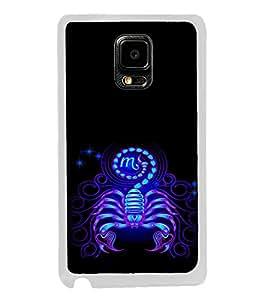 ifasho zodiac sign scorpio Back Case Cover for Samsung Galaxy Note 4 Edge