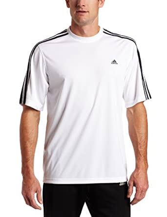 adidas Men's Essentials Short-Sleeve Tee, White/ Dark Navy, XXX-Large