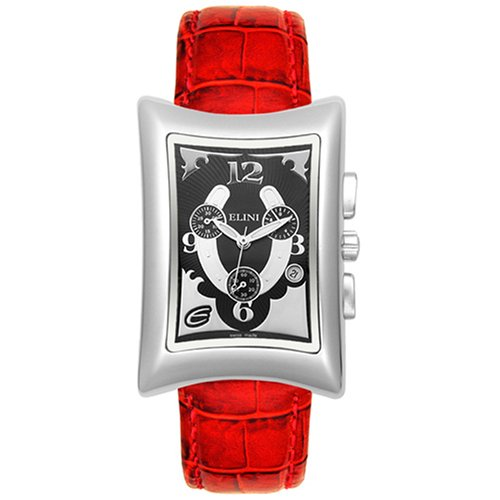 Elini Men's Nazar  Red Leather Chronograph Watch #BK774HRSRD - Buy Elini Men's Nazar  Red Leather Chronograph Watch #BK774HRSRD - Purchase Elini Men's Nazar  Red Leather Chronograph Watch #BK774HRSRD (Elini, Jewelry, Categories, Watches, Men's Watches, By Movement, Swiss Quartz)