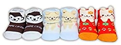 Baby Station Animal Face Booties Pack Of 3-Clour & Design As May Vary