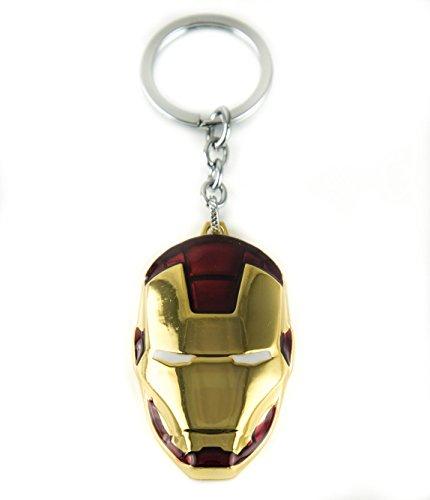 Lzy Store Tony Stark Iron Man O War Machine Helmet Super Hero Borsa Accessori per portachiavi, Goldene