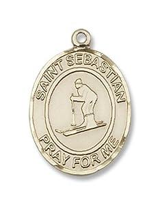 14kt Gold St. Sebastian/Skiing Medal