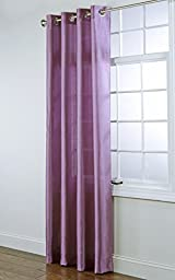 Stylemaster Home Products Rivington Faux Silk Grommet Panel, 55 by 84-Inch, Lilac by Style Master