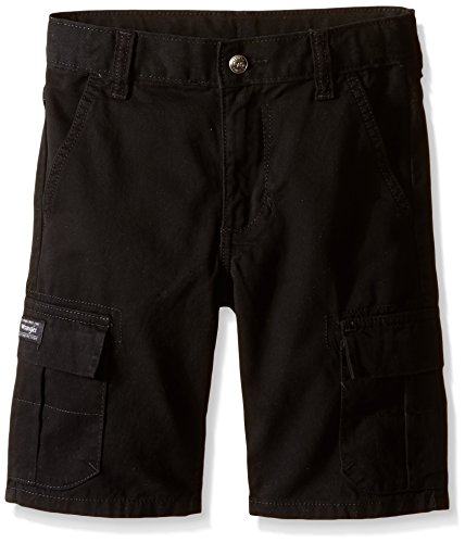 Wrangler Big Boys' Classic Cargo Shorts, Black, 14