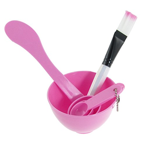 DIY Homemade Mask Bowl Spoons Brush Appliances Set Pink (Facial Mixer Bowl compare prices)