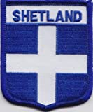 Shetland Islands Scotland Scottish Flag Embroidered Patch Badge