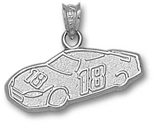 Kyle Busch #18 Car Pendant - Sterling Silver Jewelry by Logo Art