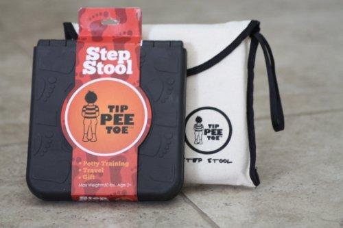 Tip Pee Toe Portable Toddler Step Stool, Black