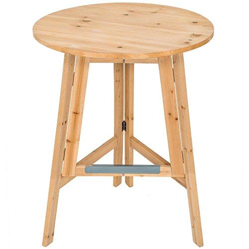 TecTake-Stabiler-Holz-Stehtisch-massiv-Bistrotisch-Klapptisch-klappbar-Hhe-ca-111-cm--78-cm