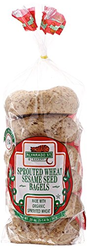 Alvarado St. Bakery, Sprouted Sesame Bagel, Organic, 20 oz (Frozen) (Alvarado St Bakery compare prices)