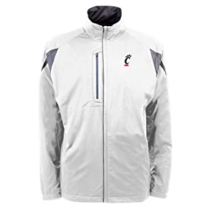 Cincinnati Bearcats NCAA Highland Mens Full Zip Sports Jacket (White) by Antigua