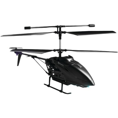 BLACK HELICOPTER WITH CAMERA (Catalog Category: IMPORT PRODUCTS / TOYS)