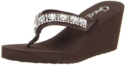 Grazie Women'S Verona Flip Flop,Brown,10 B Us back-586715
