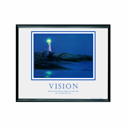 ADVANTUS Framed Motivational Print, Vision, 30 x 24 Inches, Black Frame (78018) (Framed Motivational Pictures compare prices)