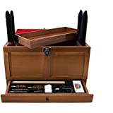 Gunmaster Wooden Toolbox with Universal Select Gun Cleaning Kit (17-Piece)