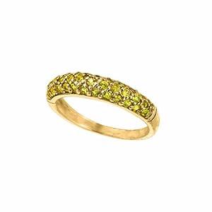 14 Karat Yellow Gold stack Motif Ring.