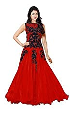 Stutti Fashion Red Color Embroidered Semi-stitched Salwar Suit Dress Material