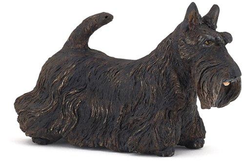 Papo Black Scottish Terrier Toy Figure