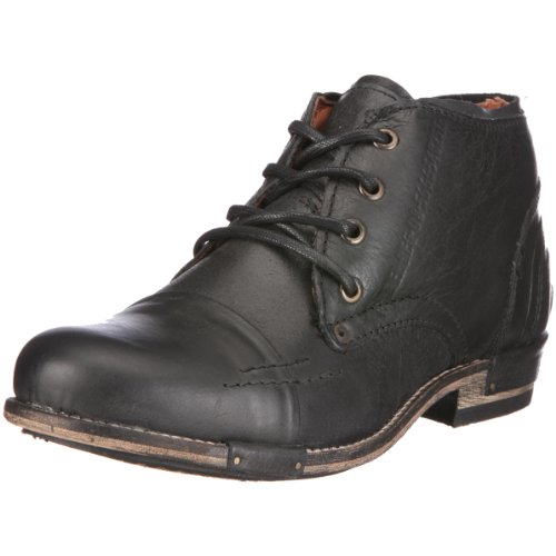 Yellow Cab CHOPPER M Combat Boots Mens Black Schwarz (Black) Size: 12 (46 EU)