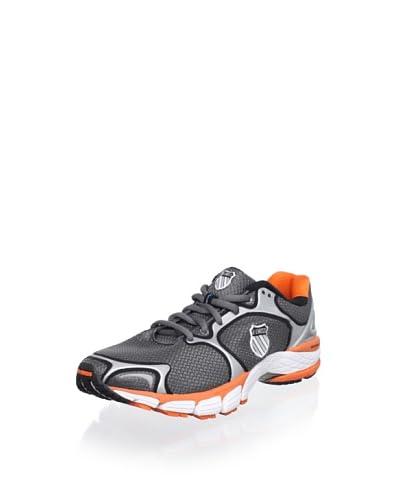 K-Swiss Men's California Running Shoe  [Charcoal/Silver/Orange]