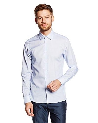 Caramelo Camisa Vestir Azul Claro