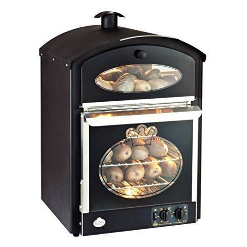 King Edward Black Finish Bake-King Potato Oven Electric Power: 2.645kW. Capacity: 120 Potatoes. Output: 72 potatoes/hr