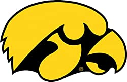 Iowa Hawkeyes 12&quot; Vinyl Magnet Set Of 2 - Magnet Iowa