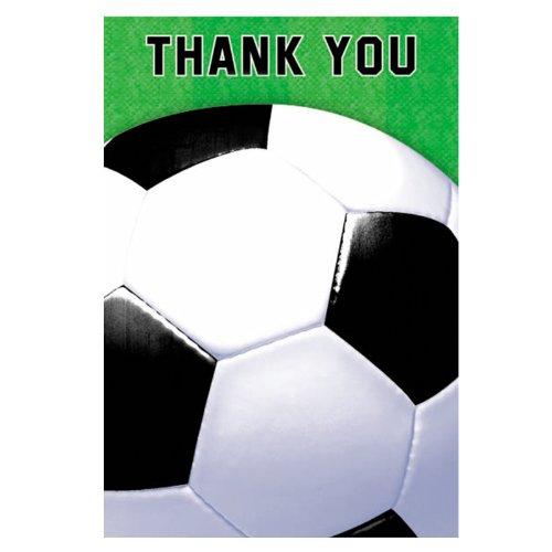 Soccer Fan Thank-You Notes Party Accessory