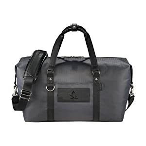Hartford Cutter & Buck Pacific Series Black Weekender Duffel 'Official Logo Debossed' from CollegeFanGear