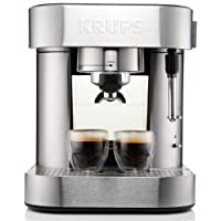 KRUPS XP601 Pump Espresso Machine with Thermo Block System and Stainless Steel Housing, Silver