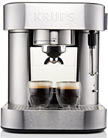 KRUPS XP601050 Pump Espresso Machine with Thermo Block System and Stainless Steel Housing Silver