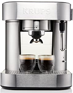 KRUPS XP601050 Pump Espresso Machine with Thermo Block System and Stainless Steel Housing,... by KRUPS