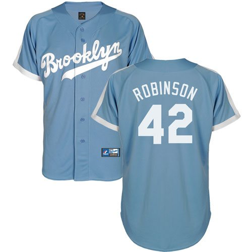 Jackie Robinson Brooklyn Dodgers Light Blue Cooperstown Jersey by Majestic Select Size: Medium at Amazon.com