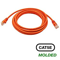 InstallerParts 12 Ft Cat 5E Molded Snagless Patch Cable Purple -- Professional Series -- 50 Micron Gold Plated RJ45 Connectors -- Ethernet Data Network Orange 75Feet