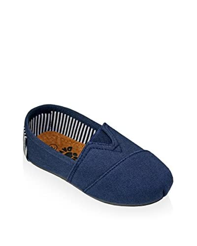 DAWGS Kid's Kaymann Canvas Slip-On with Striped Heel Loafer