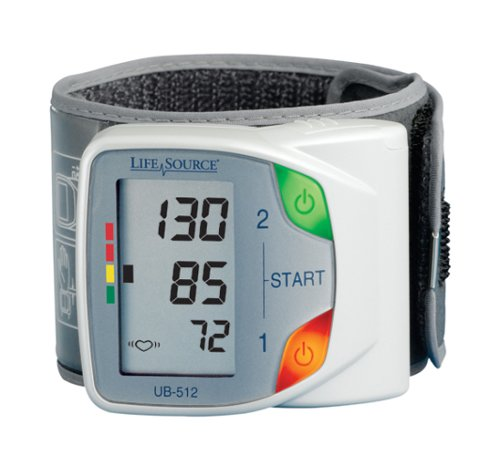 LifeSource UB-512 Advanced Memory Wrist Auto Inflate Blood Pressure Monitor