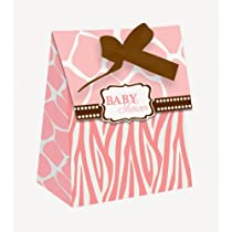 Pink Safari Favor Bags