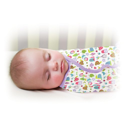 Swaddleme Swaddle Blanket - Helps Keep Babies Sleeping Safely - 0-3 Months (Home Tweet Home) - 1