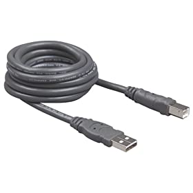 Belkin F3U133-16 USB 2.0 A/B Cable (16 Feet)