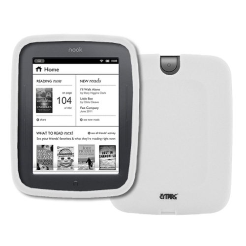 EMPIRE Barnes and Noble Nook Simple Touch / Noble Nook Simple Touch with GlowLight White Silicone Skin Case Cover [EMPIRE Packaging]