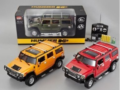 Big Dragonfly High Qaulity 1:14 Scale R C Hummer Radio Remote Control Electric Model Car Toy Car with Lights for Boys Rechargeable Yellow (Hummer Scale compare prices)