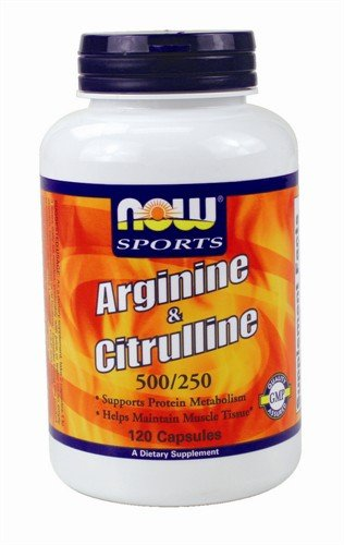 Arginine And Citrulline 500/250Mg By Now Foods - 120 Capsules