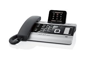 Gigaset DX800A all in one Schnurgebundenes Komfort-Telefon (Anrufbeantworter, VoIP , Festnetz ISDN, Mobilfunk) by Gigaset
