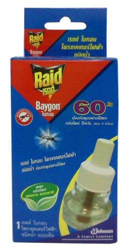 Refillable Protector Raid Mosquito Baygon Electric Liquid Type (Pine Scent) 60 Day