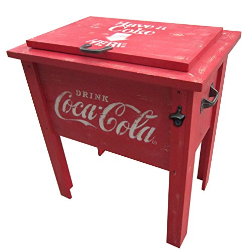 Leigh Country CP 98100 Coca Cola Vintage Cooler, 54-Quart, Red 0